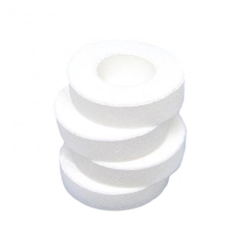 Protèges mamelons lavables contre les crevasses lors de l'allaitement (4 anneaux et sachet de rangement)