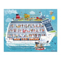 2 puzzles bateau 100 et 200 pièces - à partir de 6 ans