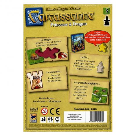 Carcassonne Extension 3 - Princesse et dragon - à partir de 7 ans