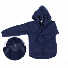 Gilet à capuche en laine - Bleu foncé