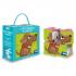 Cubes empilables et livre - les bébés animaux de la maison - à partir de 2 ans