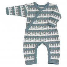 Pyjama bleu longues manches en coton BIO - poupées de papier