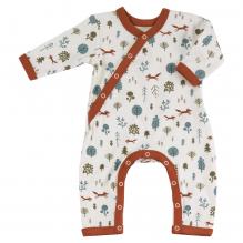Pyjama écru longues manches en coton BIO - forêt