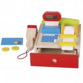 Caisse enregistreuse en bois avec accessoires - à partir de 3 ans