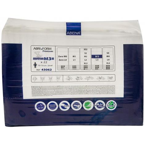 Couche jetable pour adulte Abri-Form Premium  - M3 - 22 langes