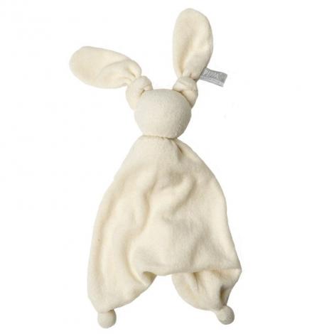 Doudou Floppy éponge en coton bio - Off white/off white