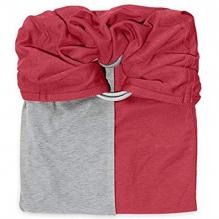 Petite écharpe sans noeud: Grenat / Gris chiné -  SANS PAD