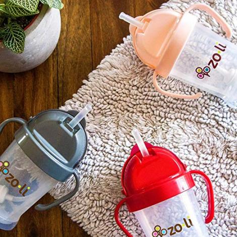Gobelet avec paille  Sans BPA ni phthalate Rouge - 180 ml