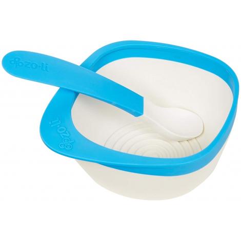 Kit bol et cuillère Sans BPA ni phthalate - Bleu