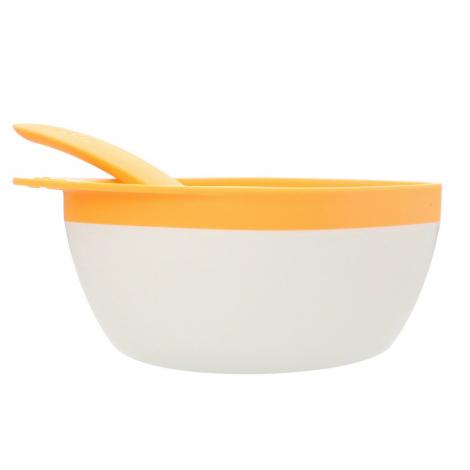 Kit bol et cuillère Sans BPA ni phthalate - Orange