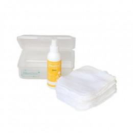 Kit de change lavable. 12 lingettes + lotion 150 ml Boite translucide
