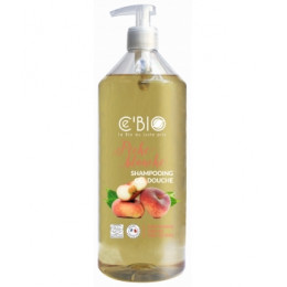 Shampooing Gel douche Bio Pêches blanches 1 litre