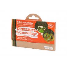 Kit de maquillage Bio 3 couleurs Dinosaure et Camouflage - à partir de 3 ans