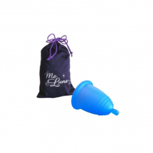 Coupe menstruelle classique - Boule - bleu