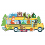 Puzzle géant Le bus des animaux 20 pièces - à partir de 3 ans