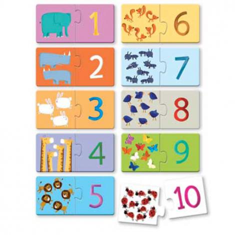 Puzzle Les chiffres 10 x 2 pièces - à partir de 2 ans