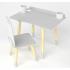 Bureau d'écolier + chaise - Blanc