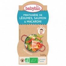 Printanière de légumes, saumon et macaroni (dès 12 mois) 2 x 200 g