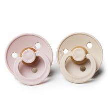 Set de 2 tétines BIBS - vanilla & blush en caoutchouc naturel