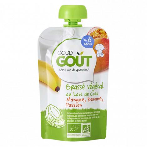 Brassé Végétal au lait de coco - Mangue, banane, passion - 90 g - Dès 6 mois