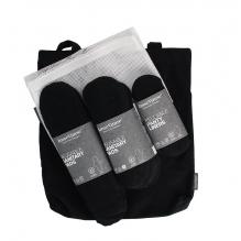 Kit de départ pour période menstruelle. Serviettes hygiéniques lavables en coton BIO - Noir