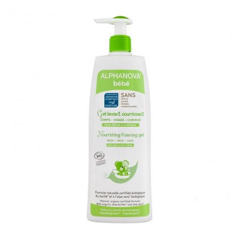 Gel Bio lavant nourrissant - 500ml - Peau sèche ou atopique
