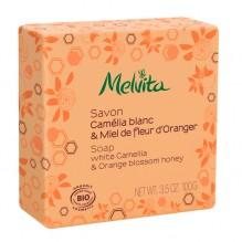 Savon BIO - Camélia blanc et Miel de fleur d'oranger - 100 g