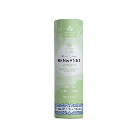 Déodorant solide naturel - Sensitive - 60 g - Lemon Lime