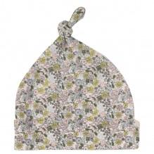 Bonnet en coton BIO - Fleurs roses