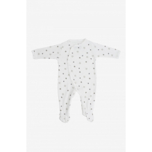 Pyjama velours en coton BIO - Etoiles grises