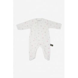 Pyjama velours en coton BIO - Etoiles roses