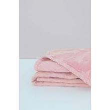 Couverture en coton BIO - Rose poudré