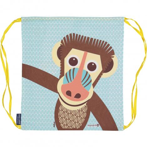 Sac d'activités enfant en coton BIO - Mandrill