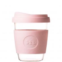 Gobelet en verre avec capuchon à bec - 355 ml - Perfect Pink