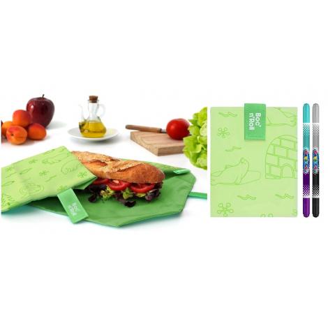 Pochette sandwich lavable et réutilisable Boc'n'Roll - Paint Polar