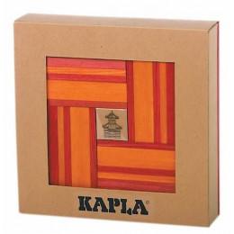 Coffret en carton contenant 40 planchettes (20 rouge + 20 orange) + Livre - à partir de 8 ans