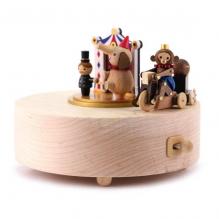 Manège musical en bois - Cirque