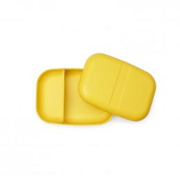 Grande boite à tartines rectangulaire avec séparateur - lunch box Bento - Jaune