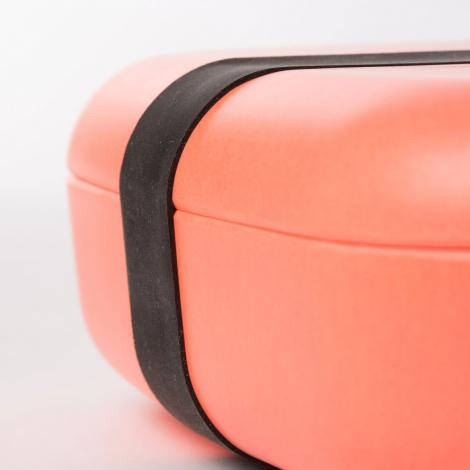 Grande boite à tartines rectangulaire avec séparateur - lunch box Bento - Corail