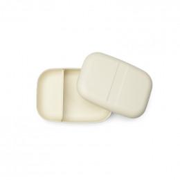 Grande boite à tartines rectangulaire avec séparateur - lunch box Bento - Blanc cassé