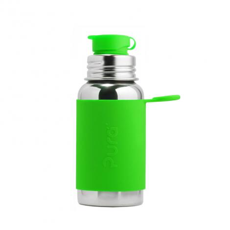 Gourde bouteille en inox - modèle sport - 550 ml - Vert