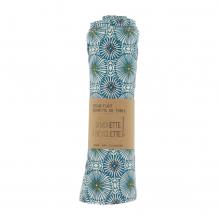 Essuie-tout et serviette de table - 23 x 24 cm - lot de 6 - Ombrelles - bleu canard