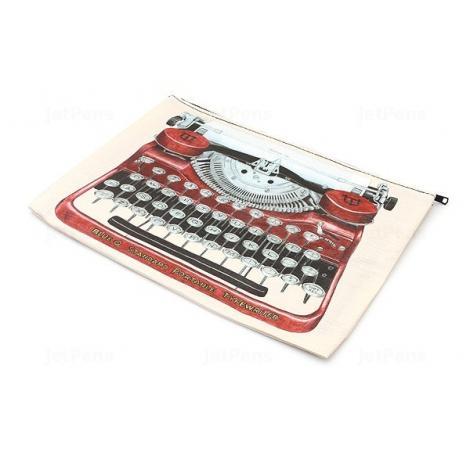 Grande trousse en matériaux recyclés - Typewriter