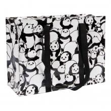 Cabas zippé en matériaux recyclés - Pandas