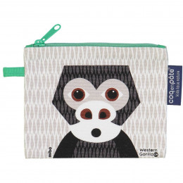 Mini trousse - porte monnaie en coton BIO - Gorille