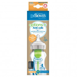 Biberon Options+ anti-coliques en verre - col large - 270 ml