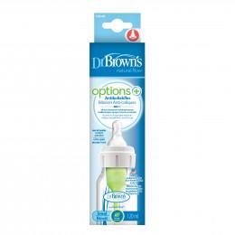 Biberon Options+ anti-coliques - col étroit - 120 ml