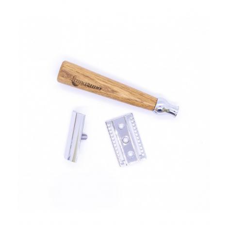 Rasoir de sûreté en bois à lame plate - rechargable