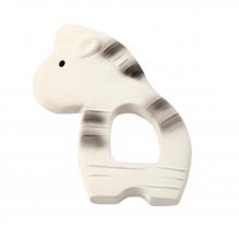 Hochet anneau de dentition en caoutchouc naturel First safari - Zèbre - dès la naissance