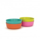 Set de 4 bols en fibre de Bambou biodégradable 60 cl ( Rose, Lagon, Lime, Mandarine ) Ø 15 x 5 cm